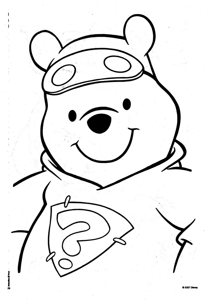 halloween pooh bear coloring pages - photo#30
