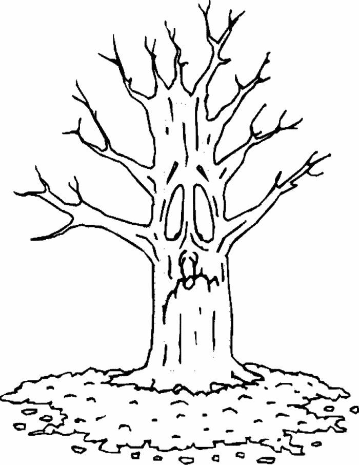 fall tree coloring page | Coloring Picture HD For Kids | Fransus