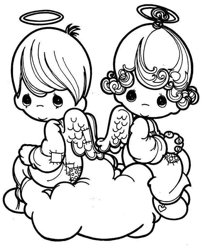 baby boy angel coloring pages - photo #32