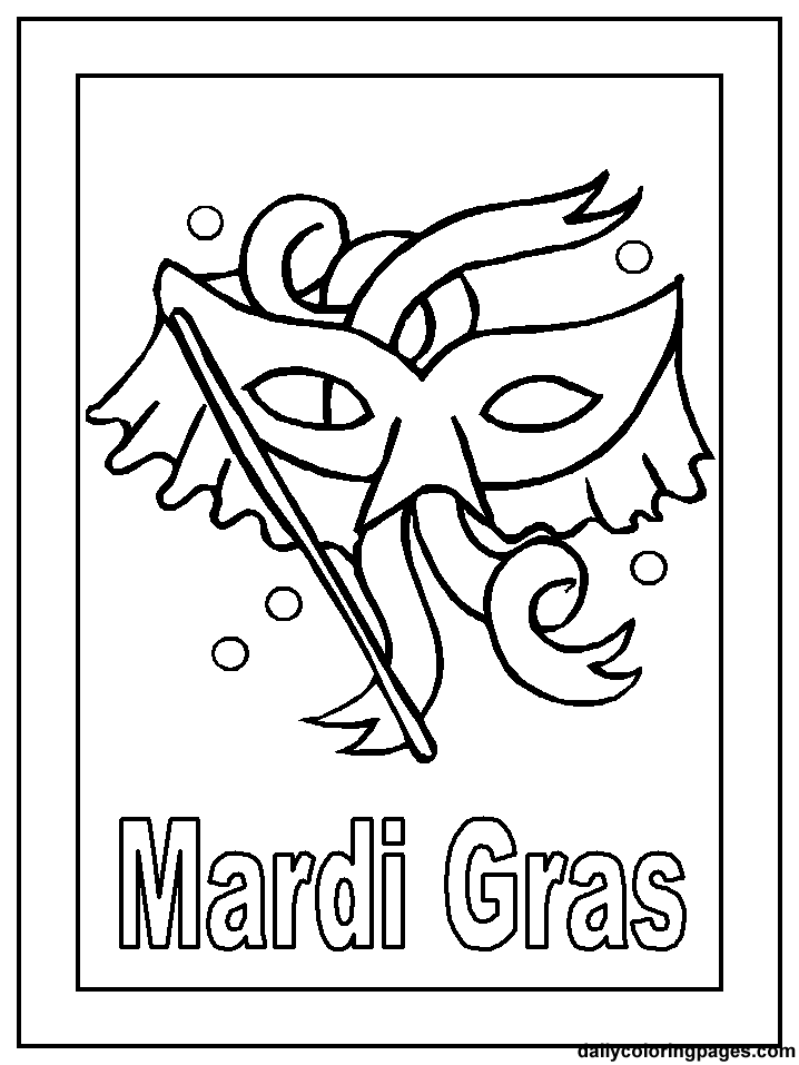 Mardi Gras Coloring Pages Holiday