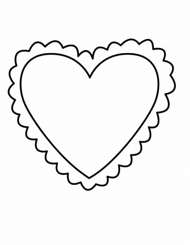 Heart Shape Coloring Pages Coloring