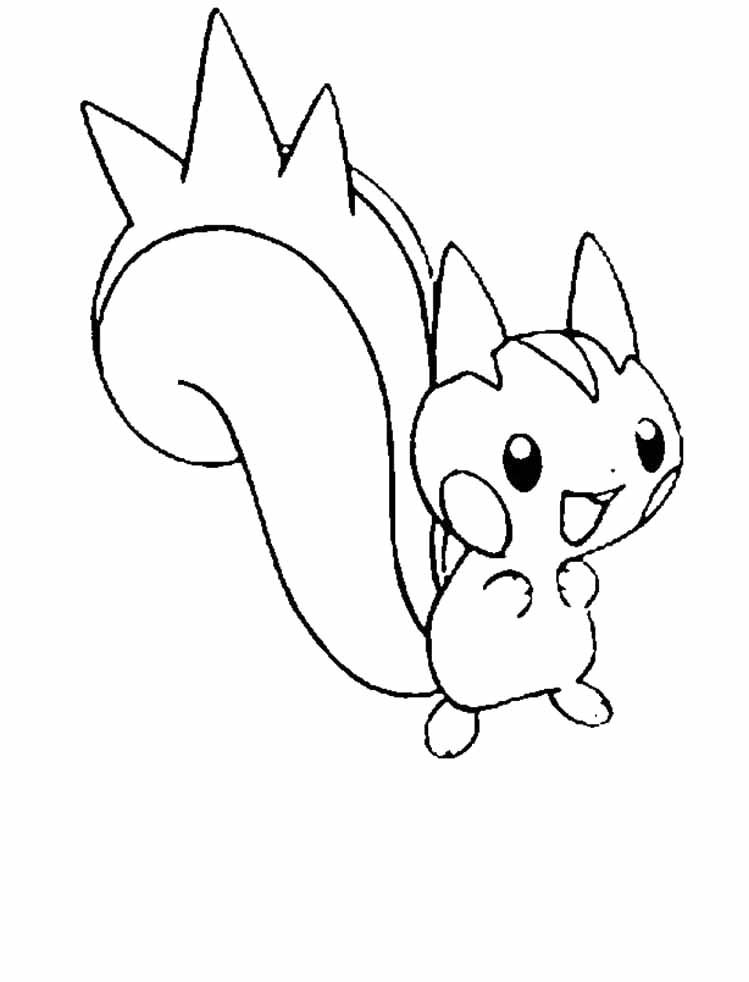 Pachirisu Is A Great Pokemon Coloring Pages - Pokemon Coloring