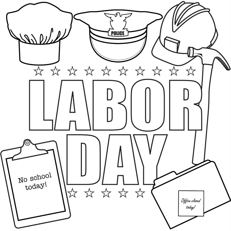 happy labor day coloring pages - photo#11