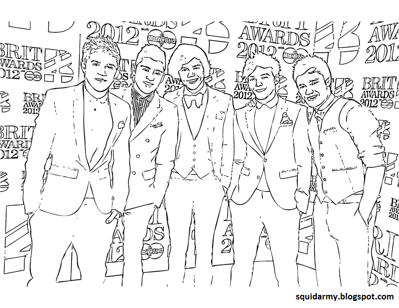 One Direction Coloring Pages Comments Tagged Coloring Pages