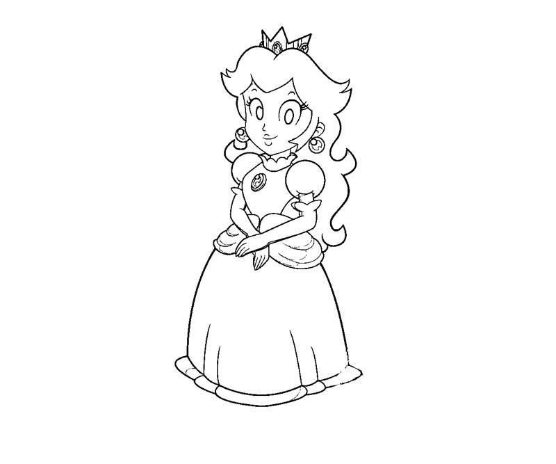 princess peach coloring page coloring pics