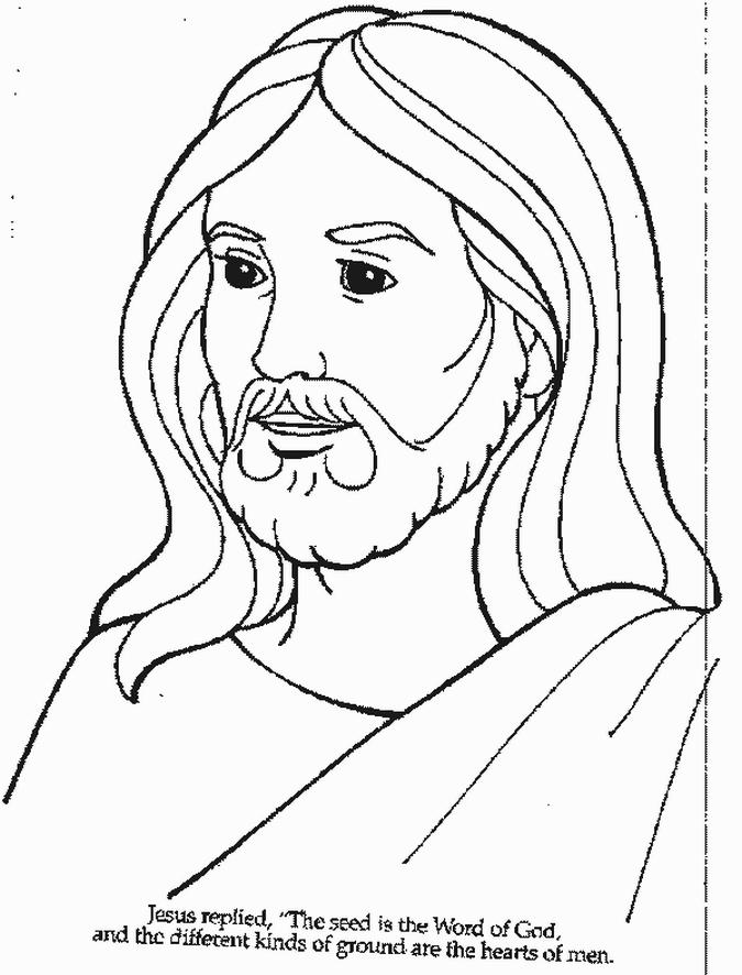 Jesus Color Pages