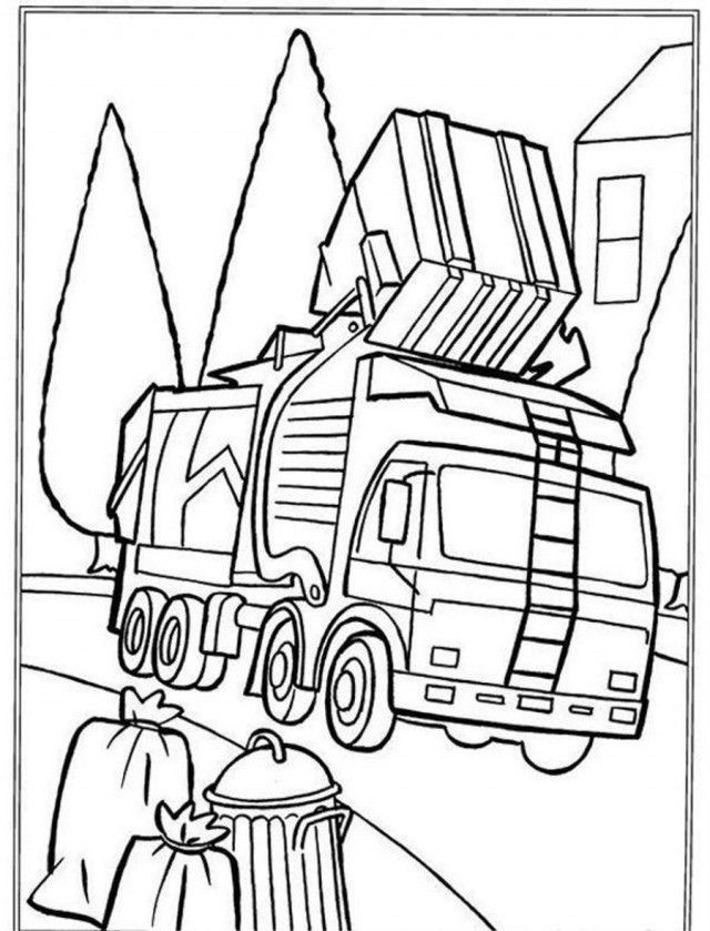 coloring pages garbage | Garbage Truck Coloring Pages - Coloring Home