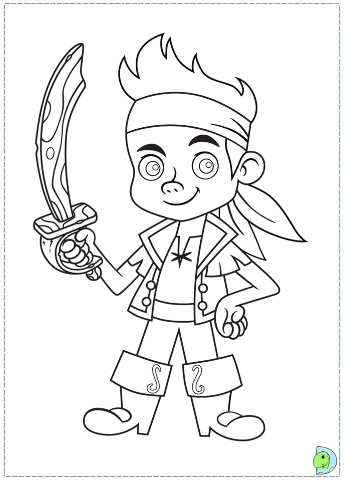 Jake and the neverland pirates drawing az coloring pages for Jake neverland pirates coloring pages