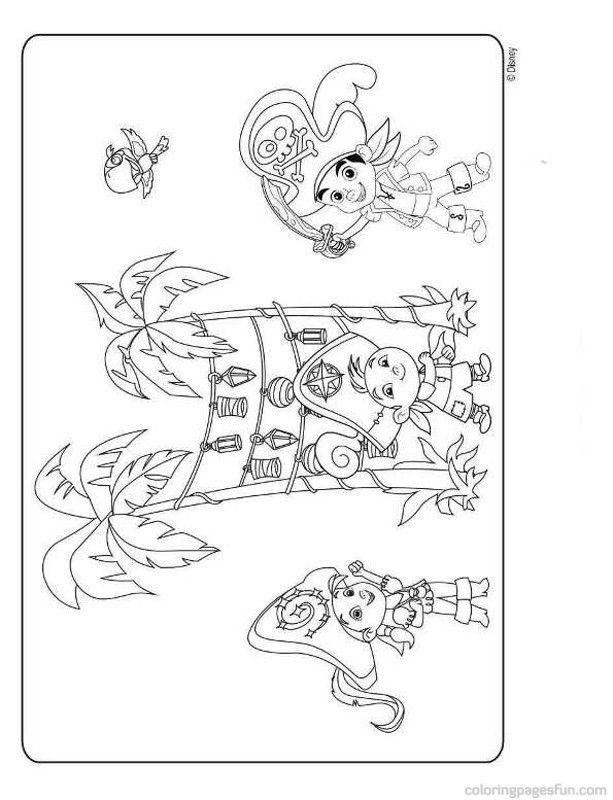 Jake and the neverland pirates picture coloring home for Jake neverland pirates coloring pages