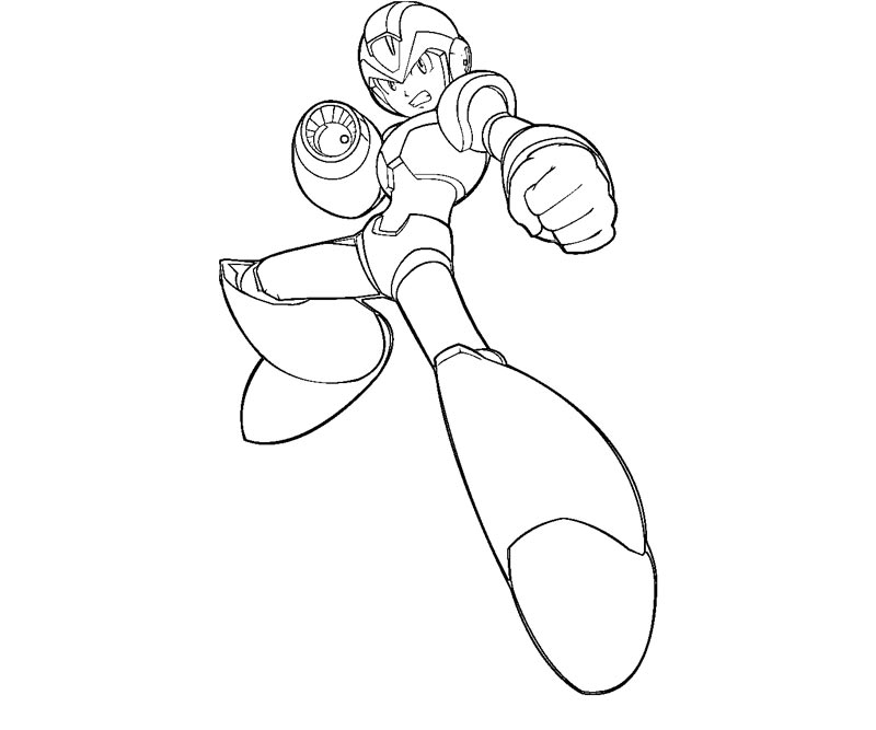 mega man coloring pages free - photo#22