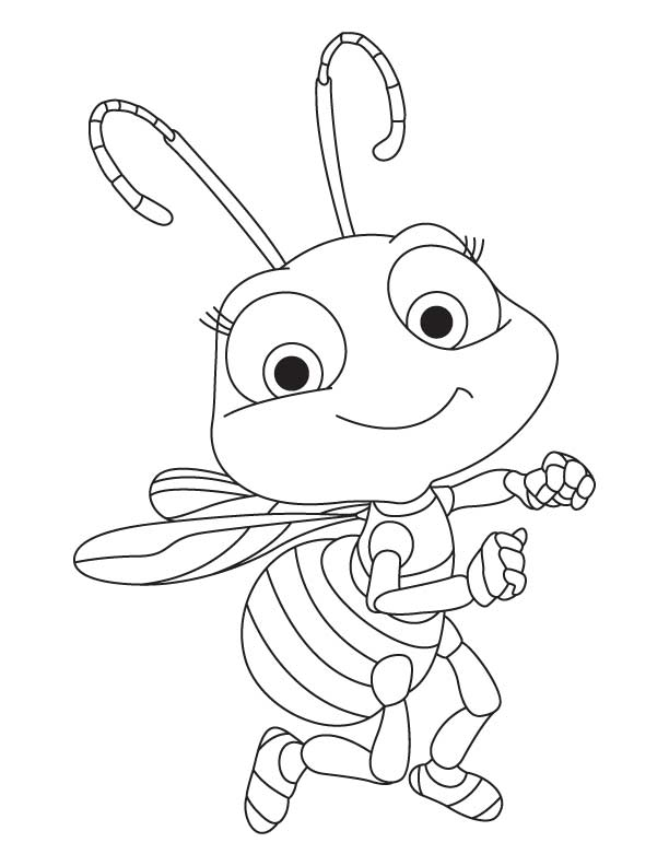 cute honey bee coloring pages download free cute honey bee