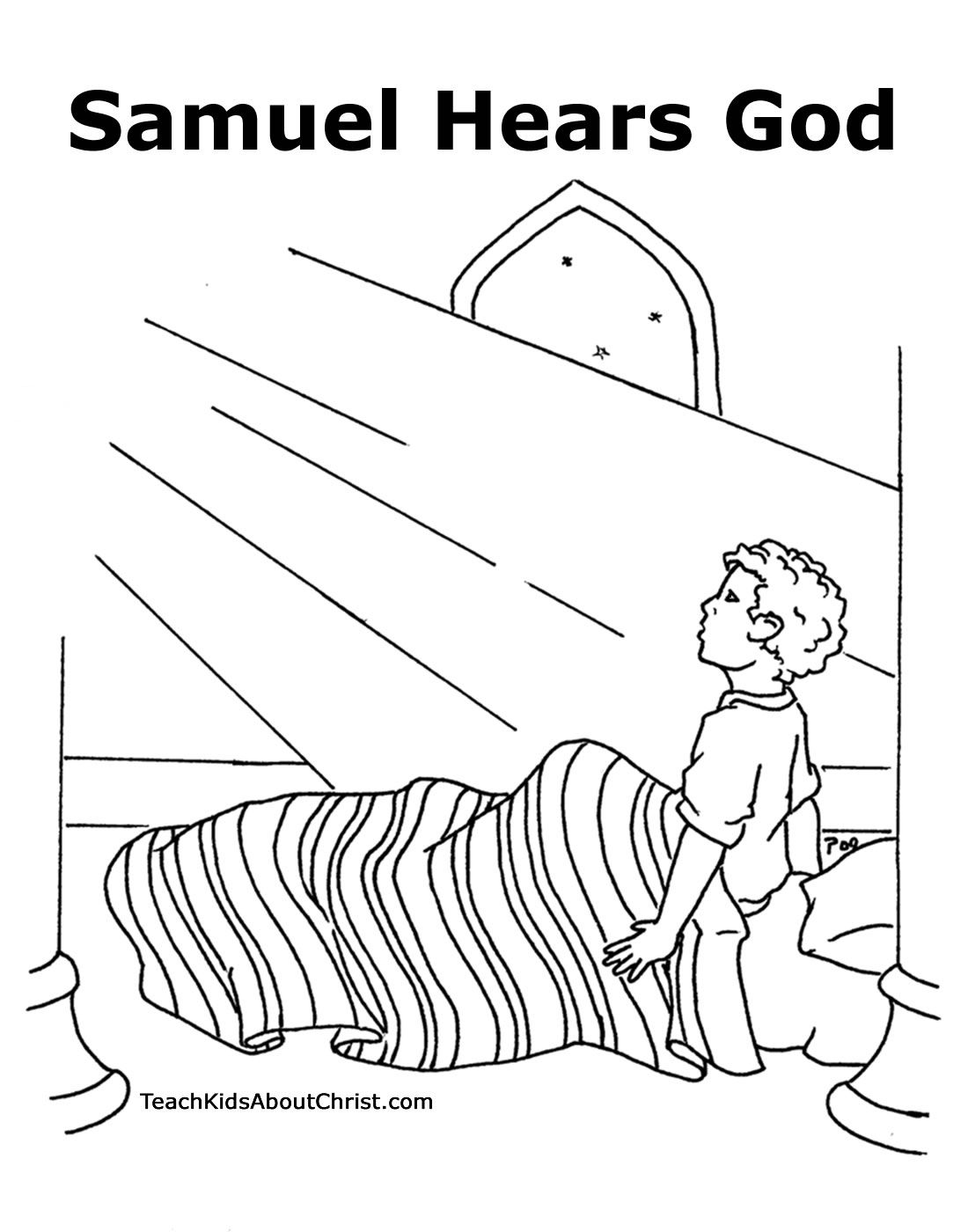 Baby Samuel Coloring Page Coloring Home