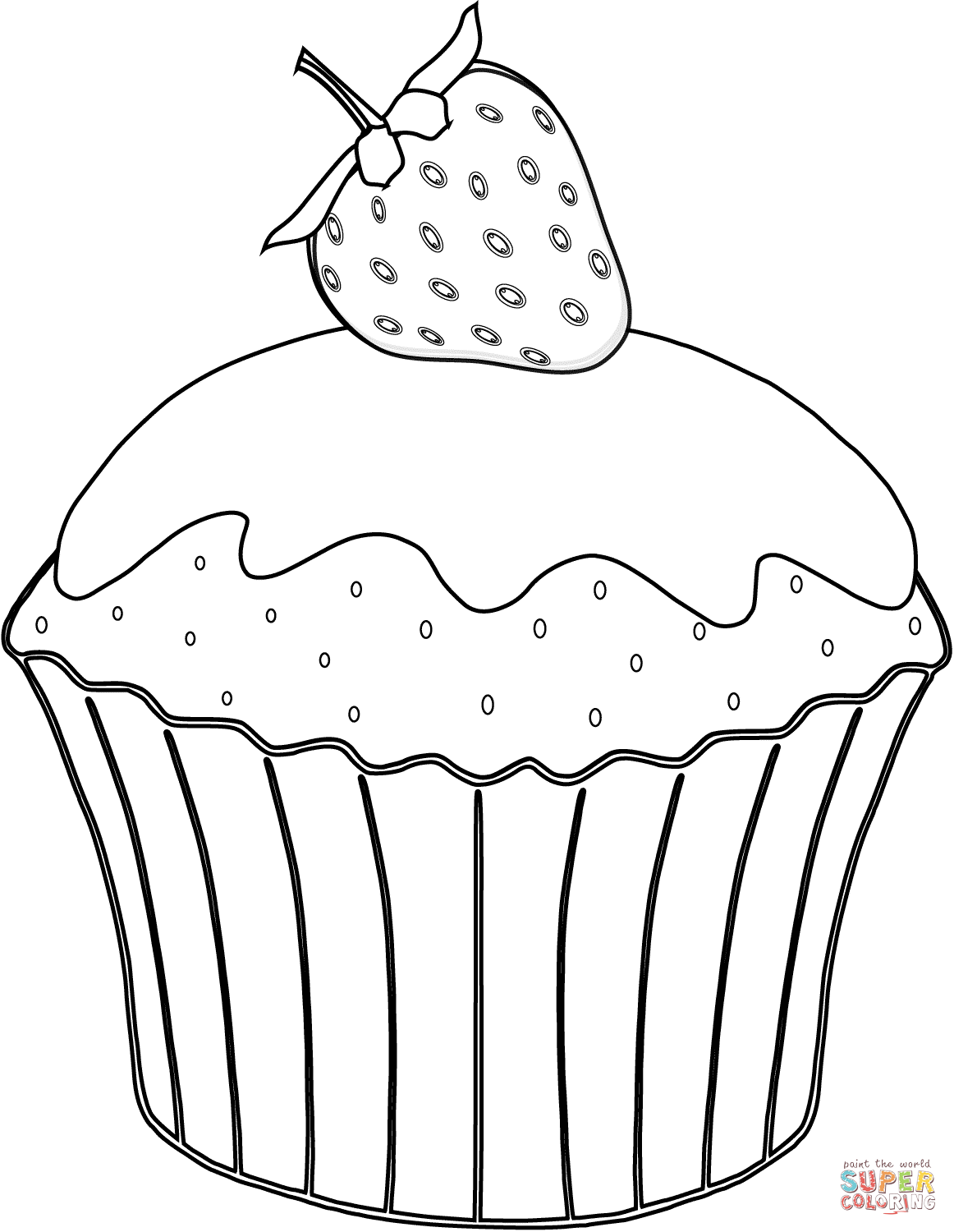 Muffin Coloring Pages To Print