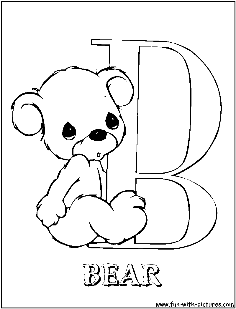 Precious Moments Alphabet A-z Coloring Pages - Coloring Home