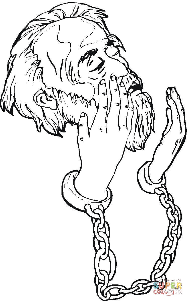 peter in prison coloring page coloring home