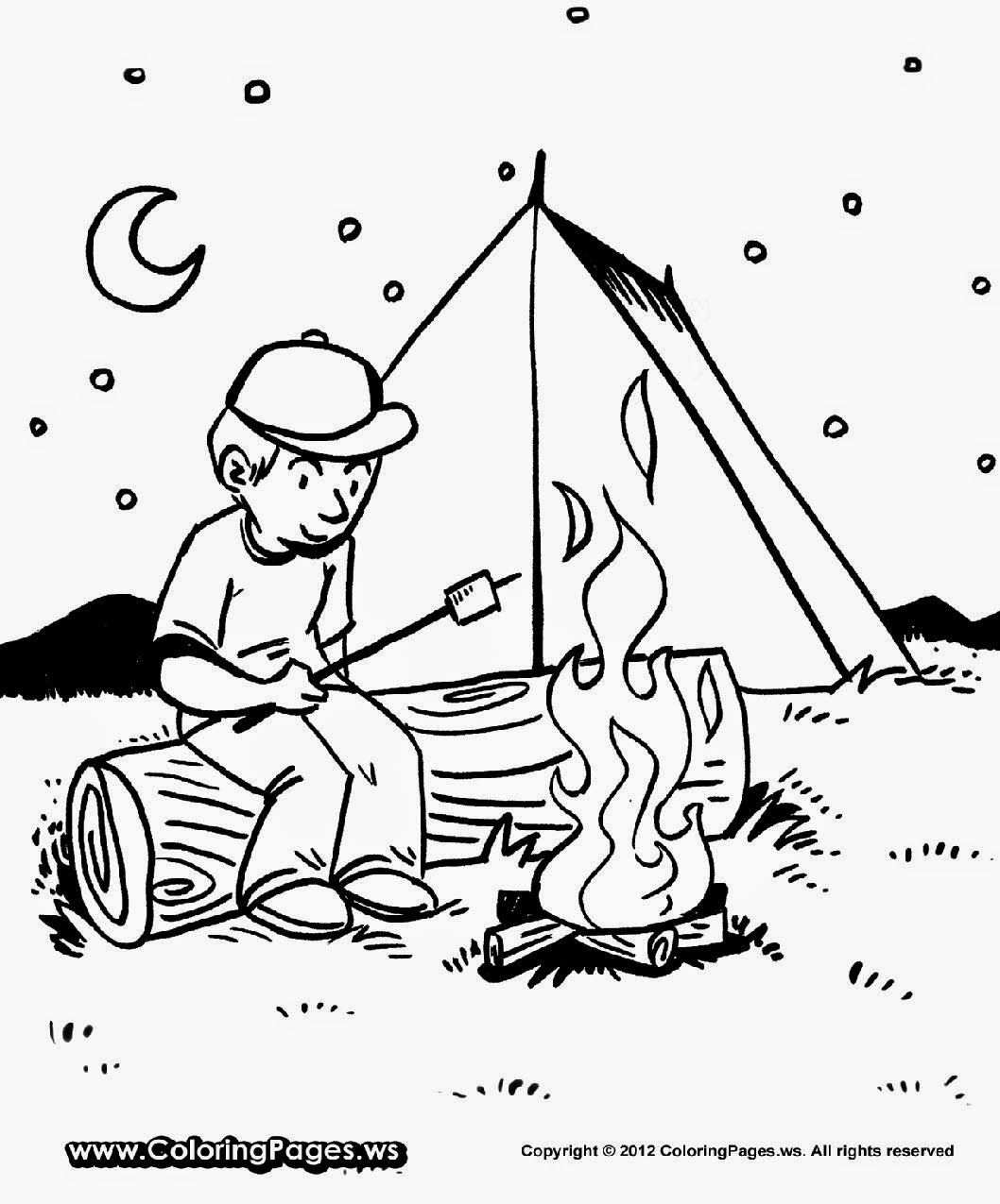 Free coloring pages ws - Camping Coloring Pages Free Coloring Pages