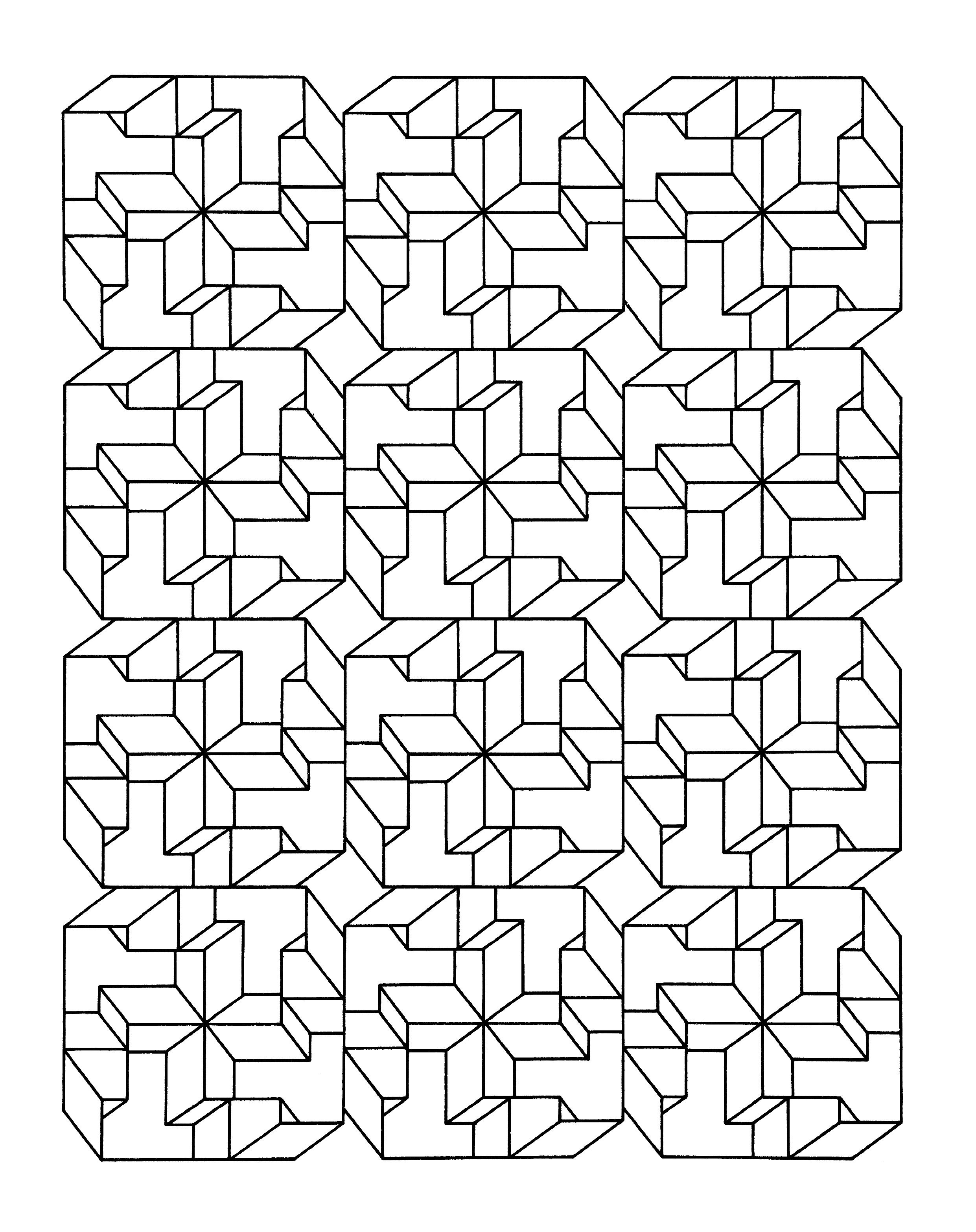 vasarely coloring pages - photo#20