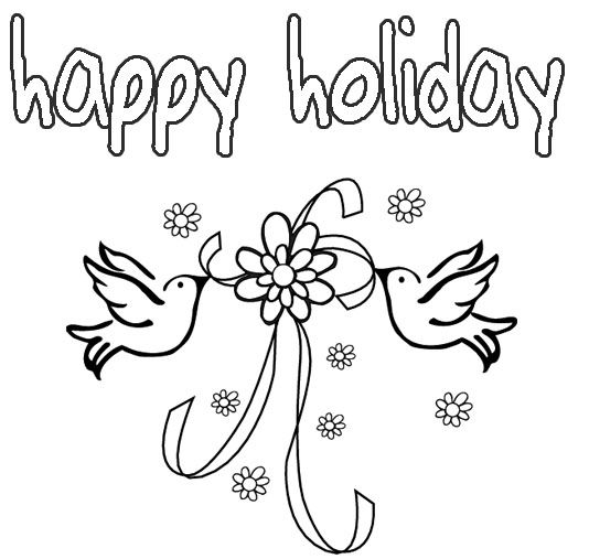 Colouring Pages Holidays : Happy Holidays Coloring Pages Printable Coloring Home