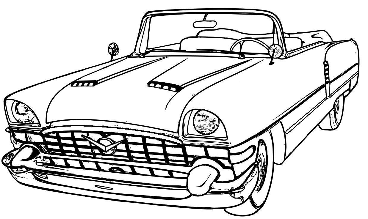 Line Drawing From Photo : Classic car line drawing pixshark images