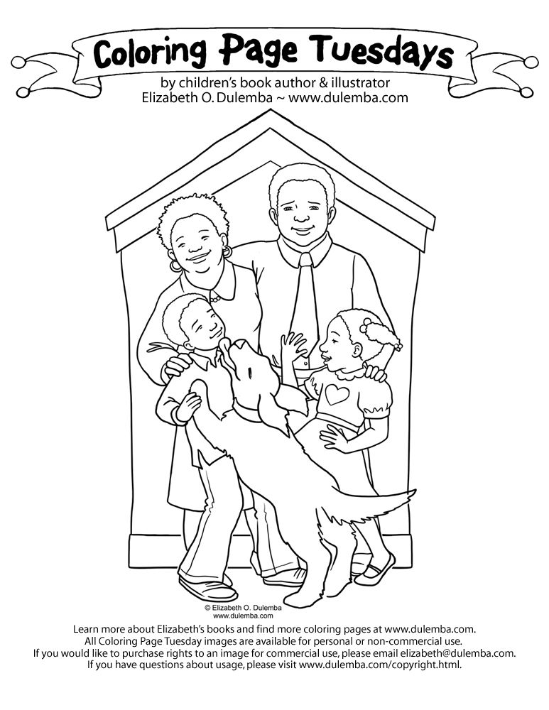 african american kids coloring pages - photo#16