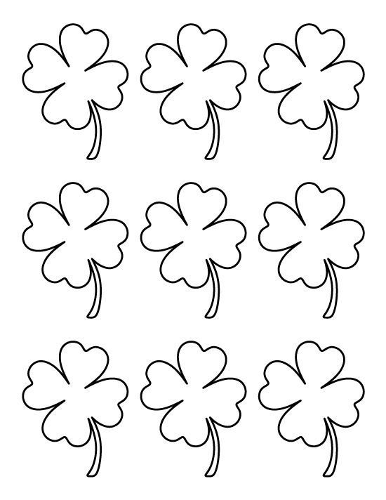 4 Leaf Clover Coloring Page - Coloring Home