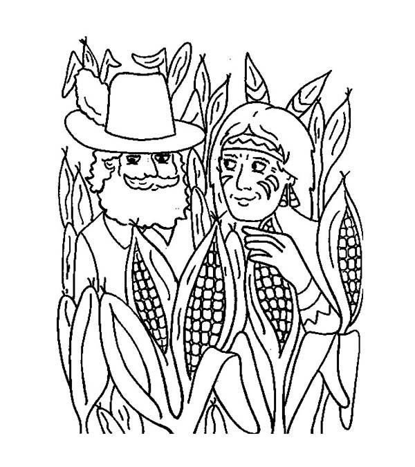 coloring pages mayflower pilgrims corn - photo#14