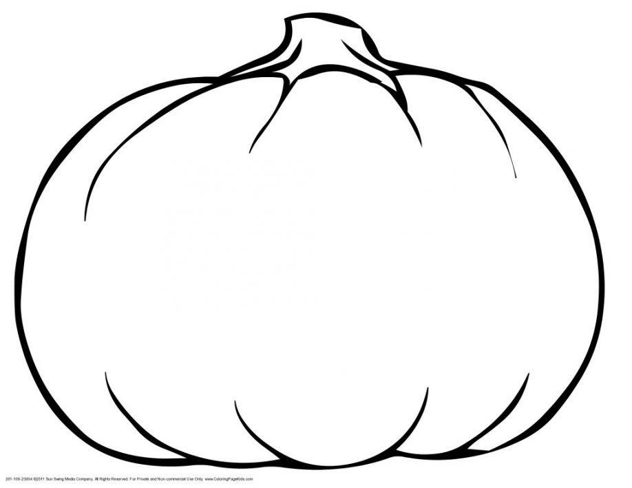 Pumpkin Outline Printable - Coloring Home
