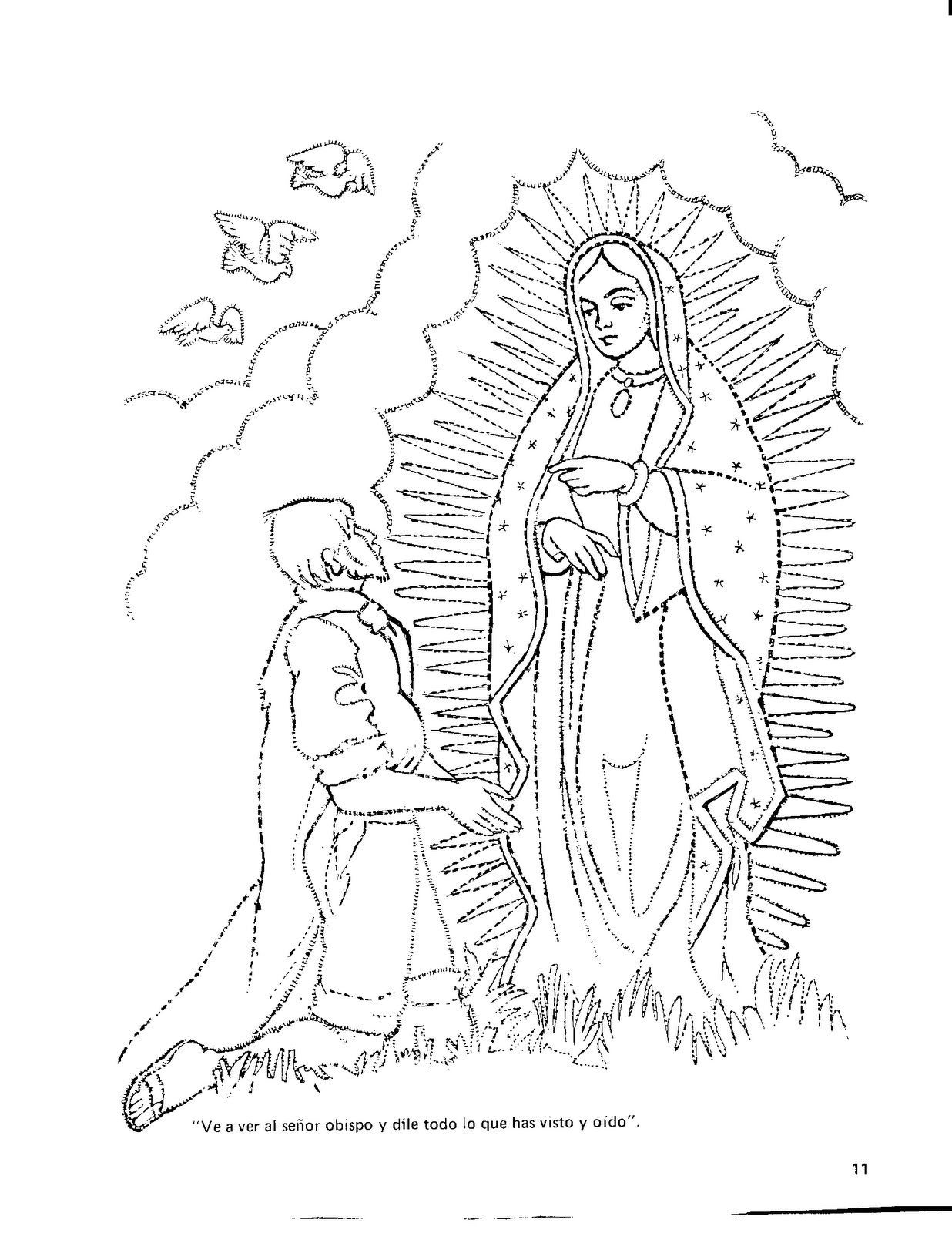 Virgen De Guadalupe Coloring Pages Coloring Stylizr Coloring Home