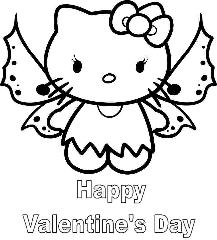 Hello Kitty Valentine Coloring Page ~ tryard.us