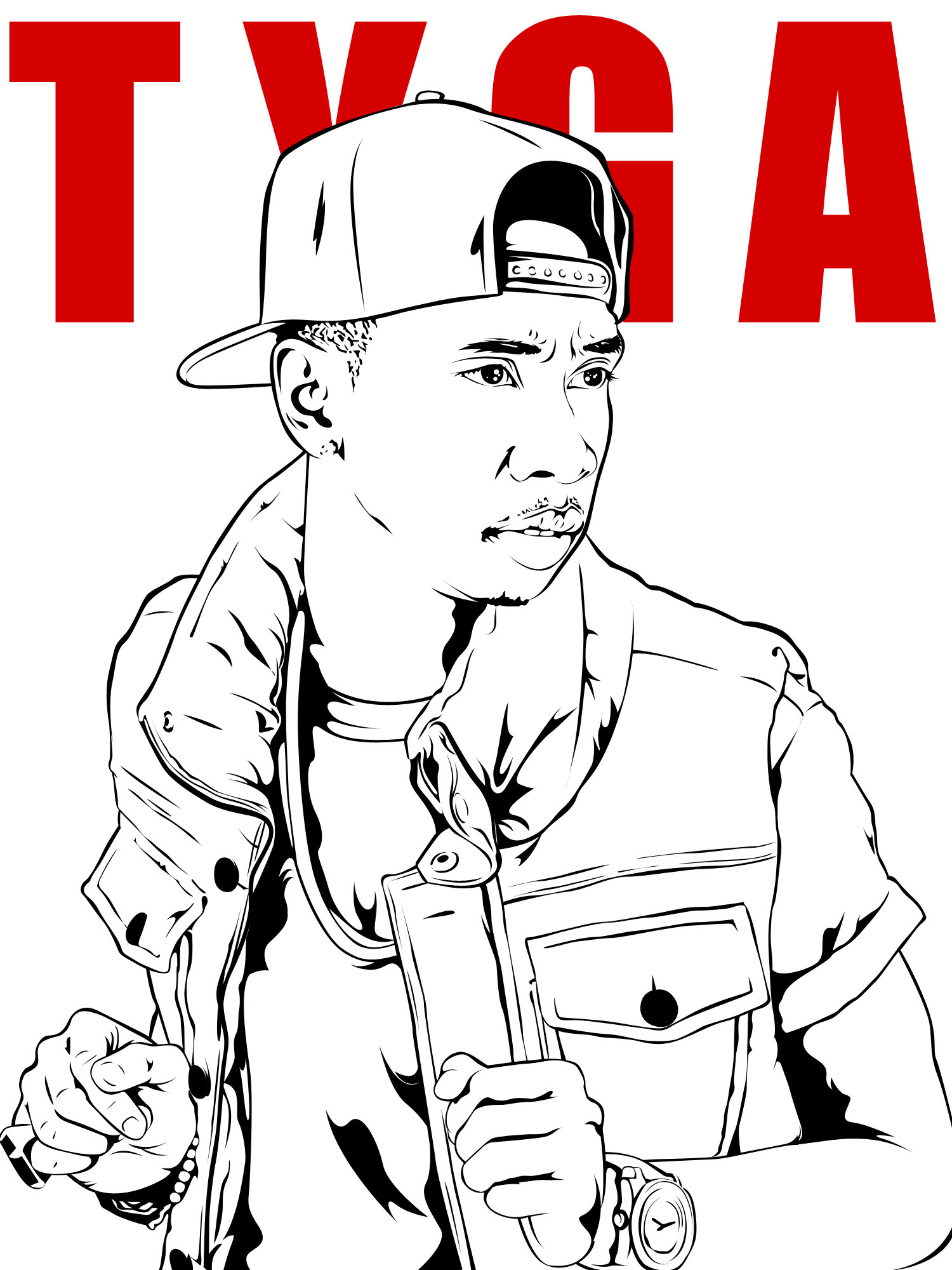 tyga coloring pages coloring home