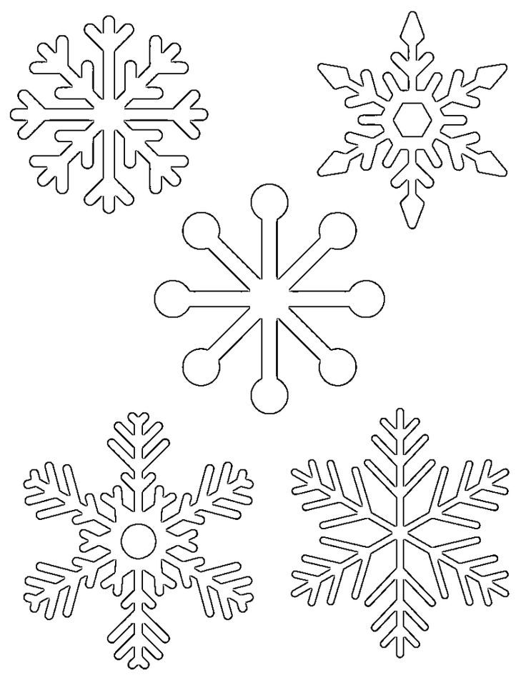 snowflakes coloring pages for toddlers - photo#23