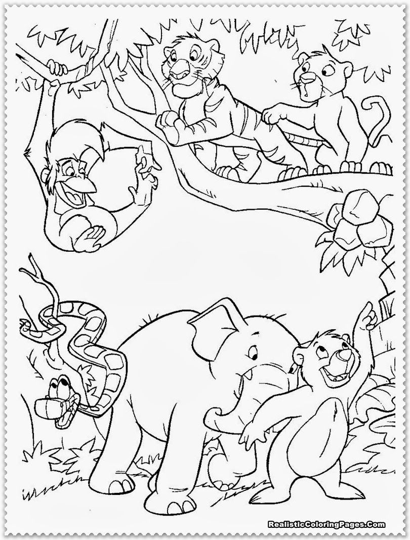 Jungle book coloring pages coloringpagesabc com - Baby Wild Animal Jungle Animal Coloring Pages Jungle Animal