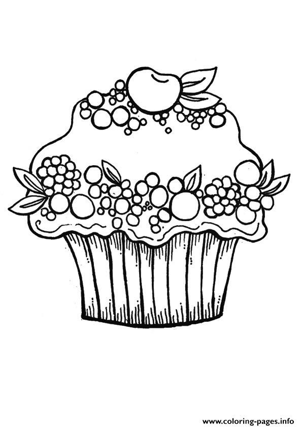 hello kitty cupcake coloring pages coloring home