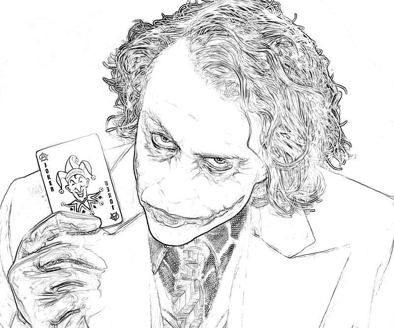7 Pics Of Joker Coloring Pages Printable