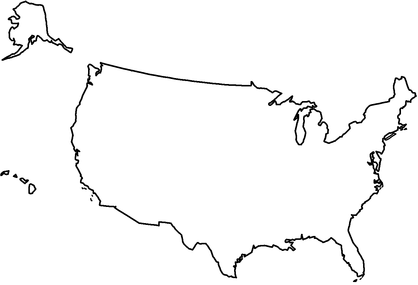Map Of The United States With Le Coloring Page Presidents