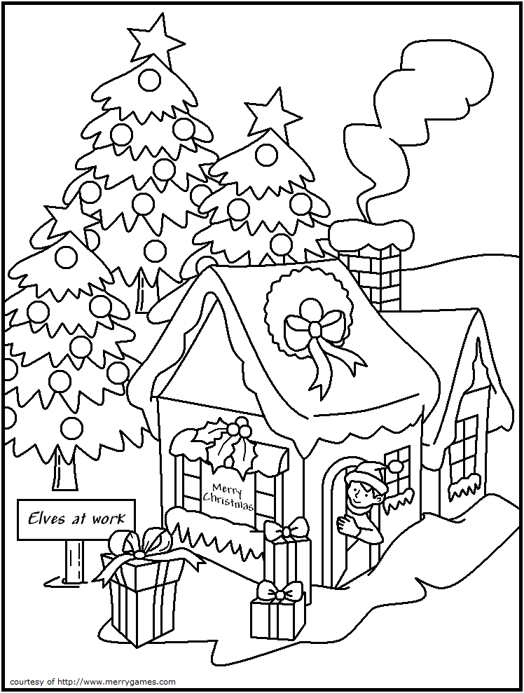 Best Photos Of Free Printable Christmas Elf Coloring Pages