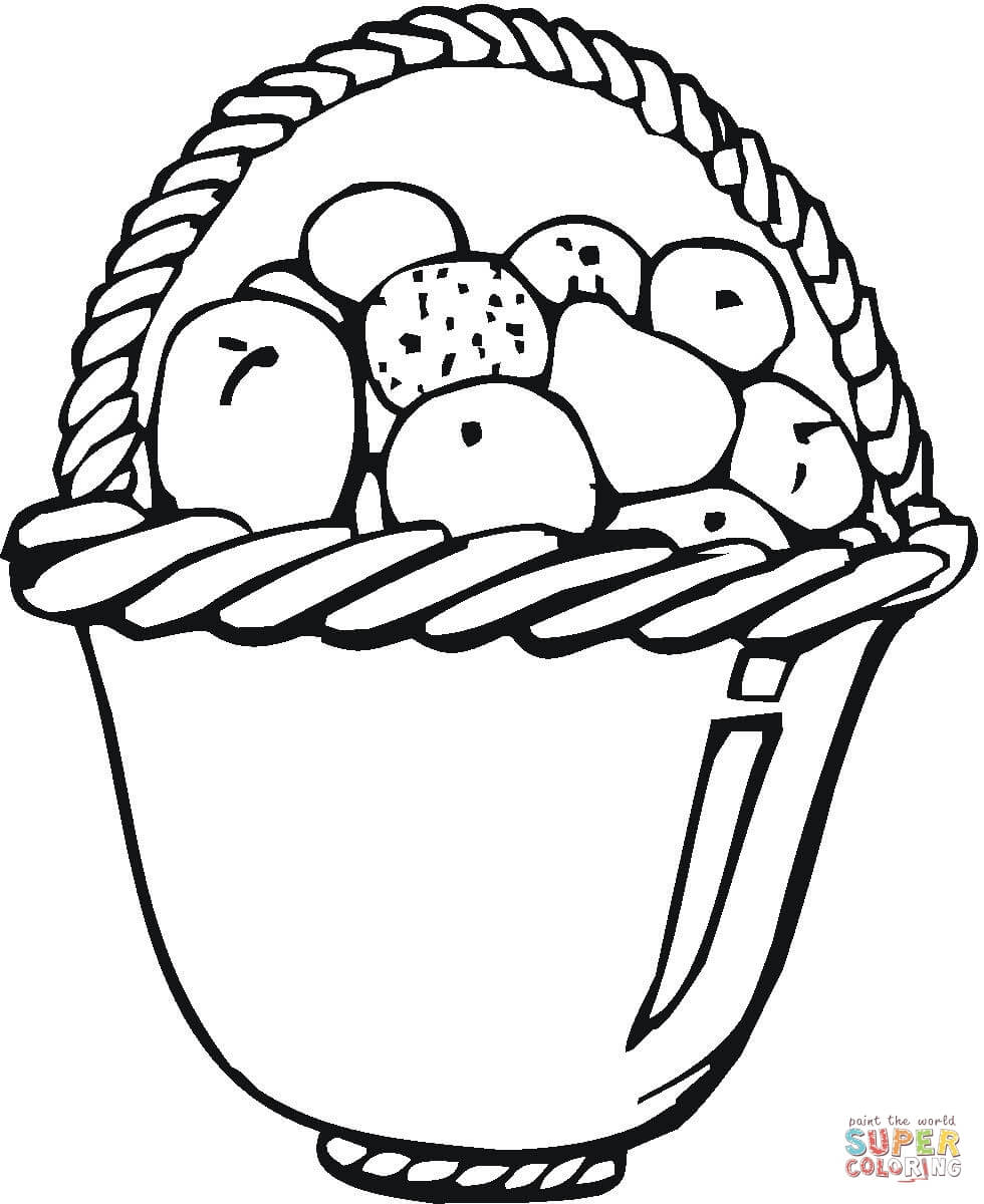 Bowl Of Fruits Coloring Page Free Printable Coloring
