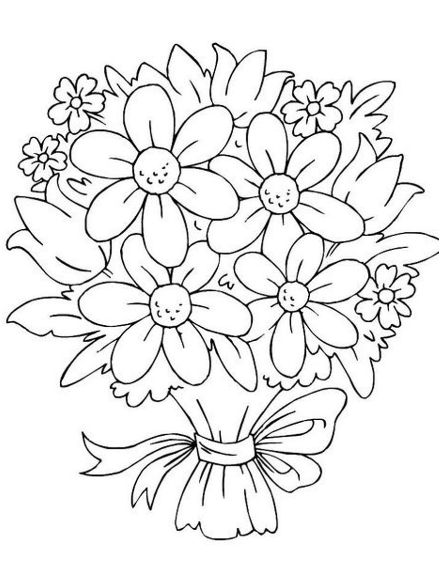 wedding bouquet coloring pages coloring home