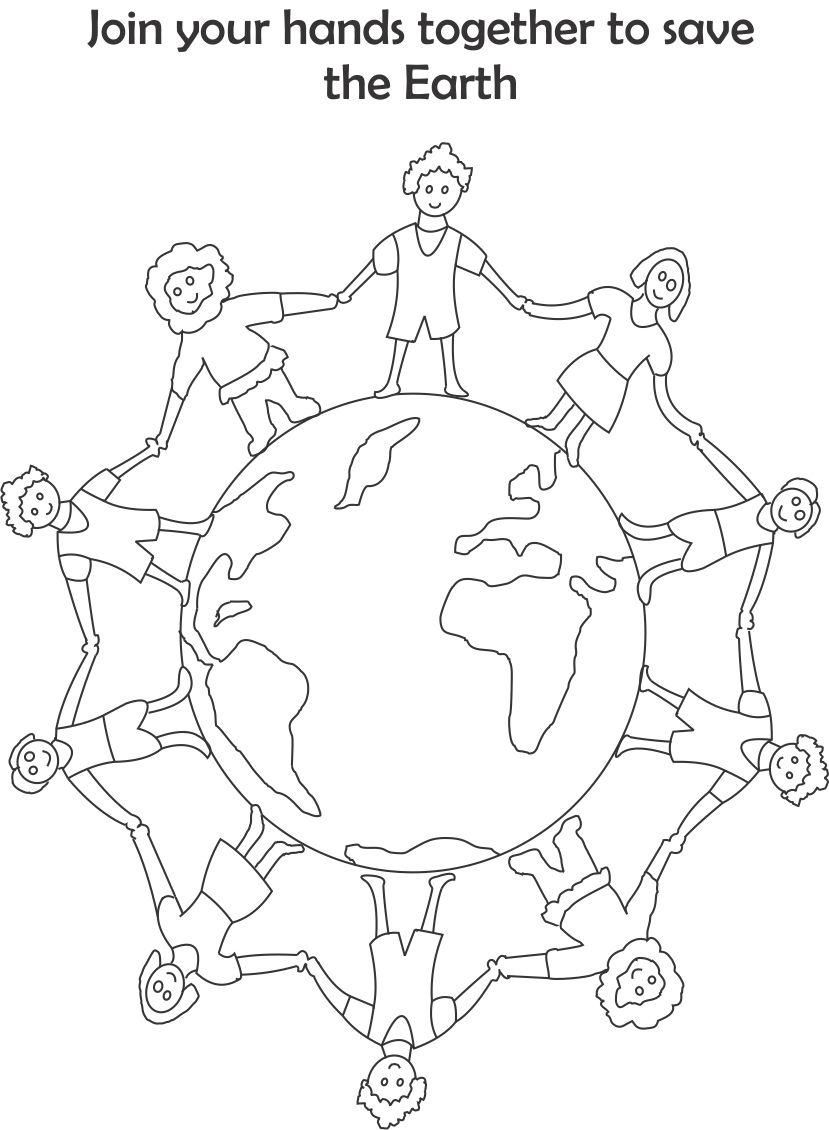 Save Earth Coloring Pages - Coloring Home