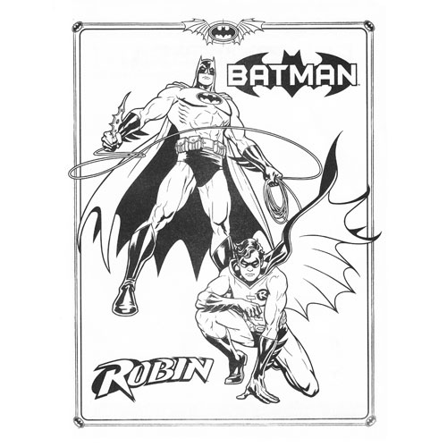 coloring pages batman robin - photo #34