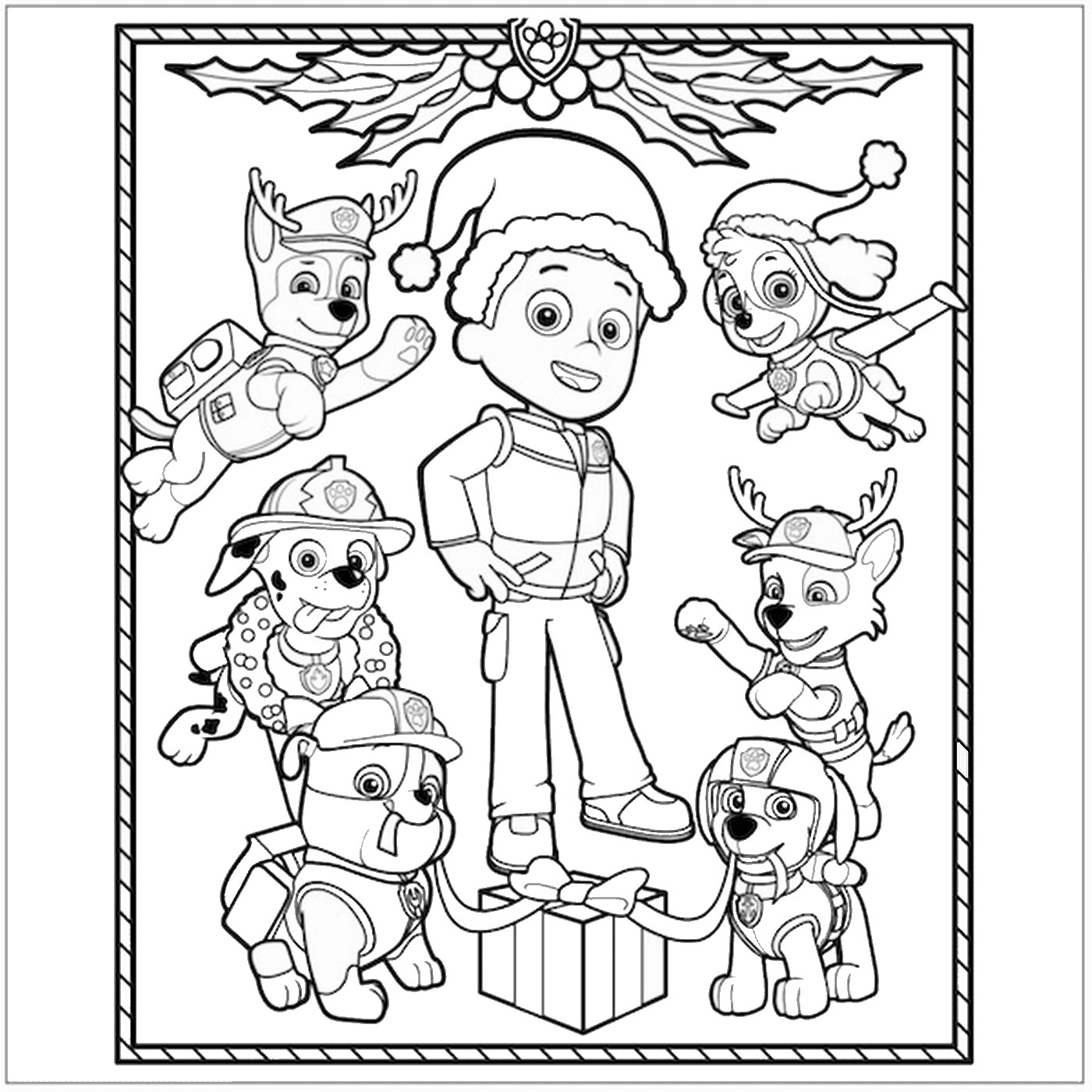 Paw patrol coloring pages robo dog - Paw Patrol Flying Patrols Coloring Pages