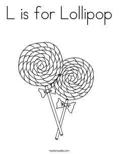 Printable Lollipop With Bow Coloring Page | 305x236