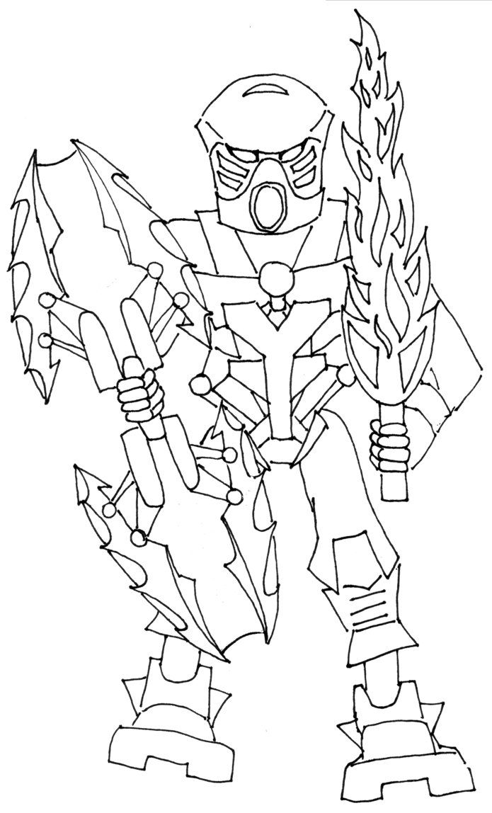 Bionicle Coloring Pages Printable High Quality