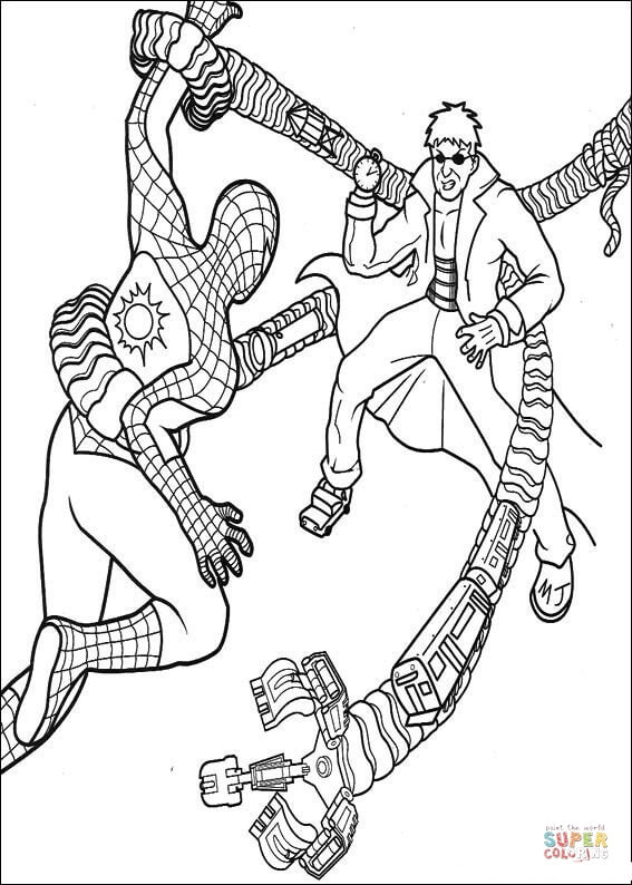 Dr Octopus Coloring Page