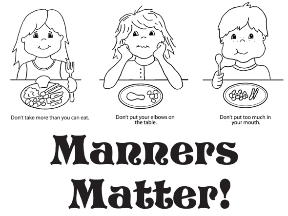 coloring pages for good manners - photo#4