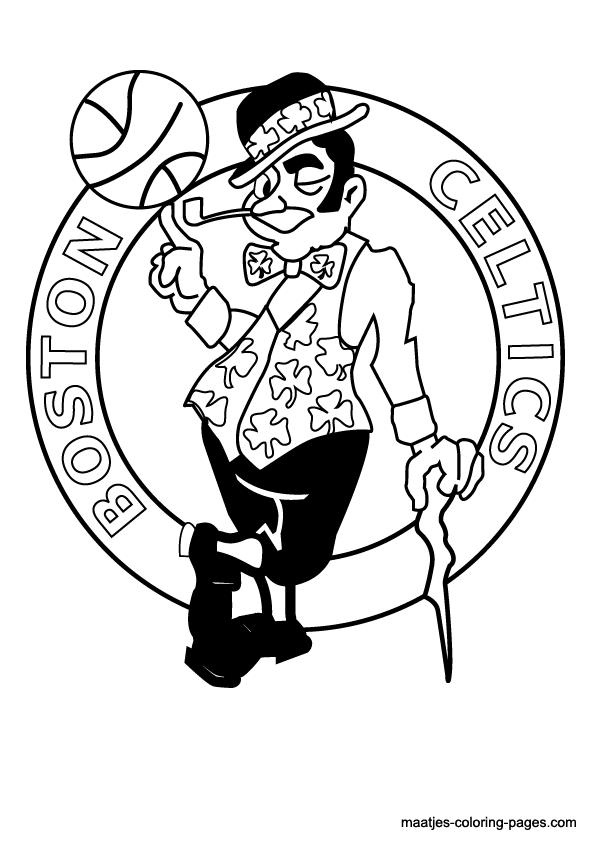 celtics logo coloring pages - photo#8