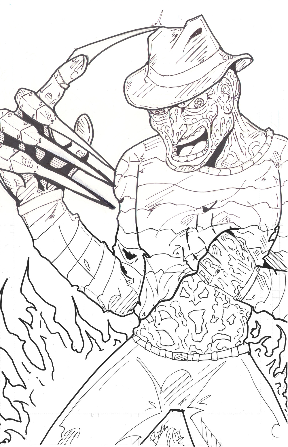 Freddy krueger coloring pages az coloring pages for Freddy coloring pages