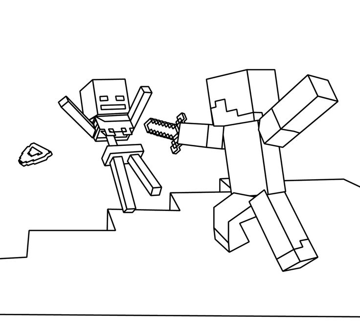 Minecraft Coloring Pages Pdf : Minecraft color page coloring home
