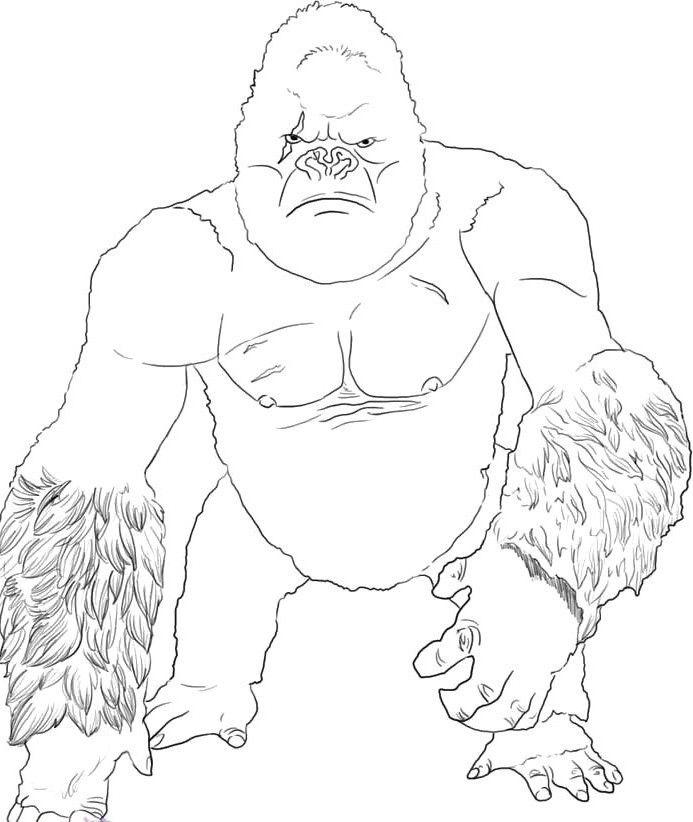 King Kong Coloring Page Coloring Home Kong Coloring Pages