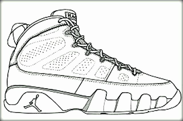 Jordan Shoe Coloring Book Inspirational Jordan Shoes Coloring Pages At  Getcolorings In 2020 Kd Basketball Shoes, Nike Basketball Shoes, Shoes -  Coloring Home